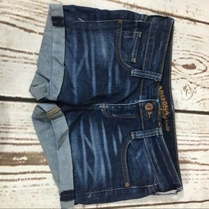 Arizona Denim Jean Shorts size 1 denim jean